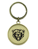 LXG Round Gold Bearhead Key Tag
