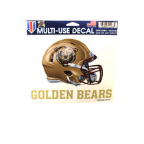 MULTI USE DECALS FOOTBALL HELMET WITH GOLDEN BEARS UNDERNEATH