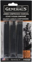JUMBO COMPRESSED CHARCOAL STICK GENERALS