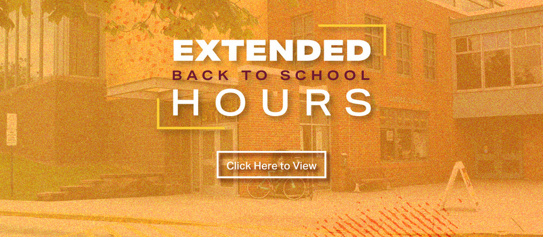 Click here to view extended back to school store hours